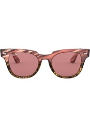 Ray Ban Meteor Striped Sunglasses Pink