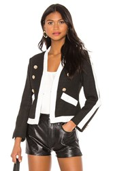 Central Park West L'horizon Two Tone Jacket Black