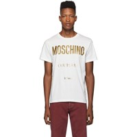 Moschino White And Gold Couture T Shirt