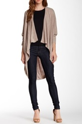 Sweet Romeo Dolman Sleeve Cascading Cardigan Brown
