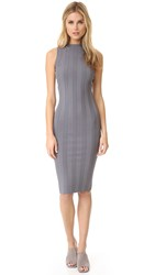 Milly Tech Rib Sheath Dress Grey