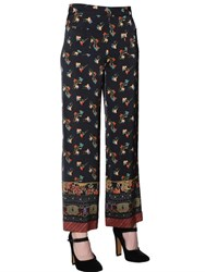 Etro Floral Printed Cady Pants