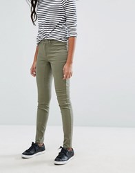Jdy Mid Rise Skinny Jeans Dusty Olive Green