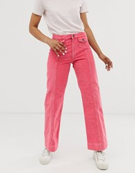 Mih Jeans Straight Leg In Pink