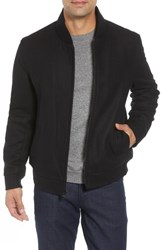 Marc New York Barlow Wool Blend Bomber Jacket Black
