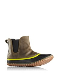 Sorel Out N About Chelsea Waterproof Leather Booties Peat Moss