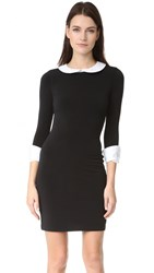 Alice Olivia Vesta 3 4 Sleeve Collared Dress Black White