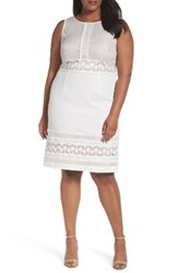 Adrianna Papell Plus Size Women's Lace Sheath Dress Ivory