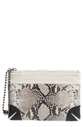 Rag And Bone Snake Pattern Zip Pouch Fawn Python