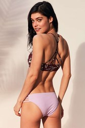 Out From Under Strappy Solid Bikini Bottom Lavender