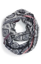 Junior Women's Bp. Brushed Geo Print Infinity Scarf
