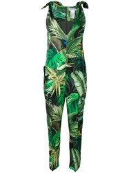 Max Mara Jungle Print Jumpsuit Green