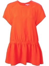 Carven Smock Top Yellow And Orange