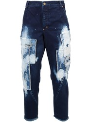 Song For The Mute Patched Jeans Blue