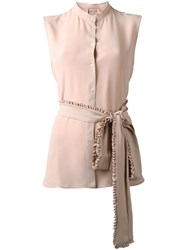 N 21 No21 Sleeveless Shirt Nude Neutrals