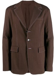 Acne Studios Slim Fit Unconstructed Jacket Brown