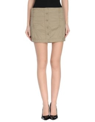 Armani Jeans Mini Skirts Military Green