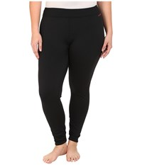 Terramar Plus Size Ecolator Performance Tights W8542w Black Women's Casual Pants