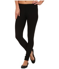 Plush Fleece Lined Matte Spandex Legging Black Women's Clothing