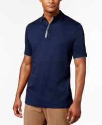 Tasso Elba Men's Supima Polo Only At Macy's Blue Note