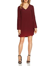 Cynthia Steffe Cece By Madeline Pleated Dress Burnt Crimson