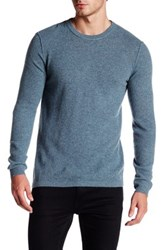 Autumn Cashmere Elbow Patch Thermal Sweater Blue