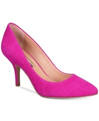 Inc International Concepts Womens Zitah Pointed Toe Pumps Only At Macy's Women's Shoes Deep Fuchsia