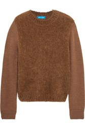 Mih Jeans M.I.H Dawes Merino Wool Blend Sweater Brown