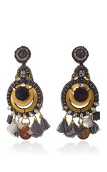 Ranjana Khan Onyx Gold Earrings
