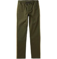 Fanmail Organic Cotton Twill Drawstring Trousers Green