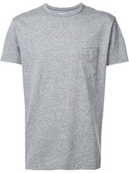Officine Generale Chest Pocket T Shirt Grey