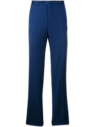 Canali Glen Plaid Tailored Trousers Blue
