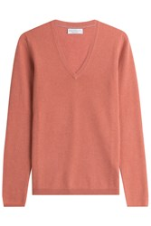 Brunello Cucinelli Cashmere Pullover With Elbow Patches Orange