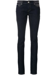 Red Valentino Studded Waistband Skinny Jeans Blue