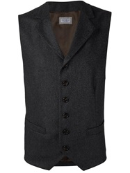 Brunello Cucinelli Fitted V Neck Gilet Grey