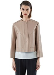 Pre Ss16 Agnona Collarless Leather Jacket