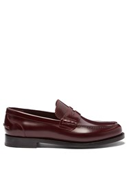 Burberry Bedmont Leather Penny Loafers Red