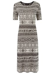 Talie Nk Midi Knit Dress White