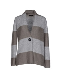 Have A Nice Day Cardigans Light Grey