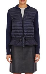 Moncler Women's Maglione Zip Front Sweater Colorless