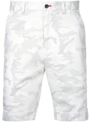 Loveless Camouflage Bermuda Shorts Men Cotton Polyurethane 1 White