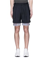 Kolor Double Layer Extended Cuff Shorts Blue
