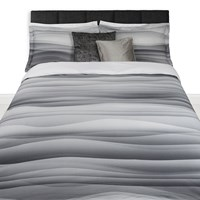 Amara Ripple Duvet Set Grey