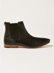 Topman Black Leather Luther Chelsea Boots