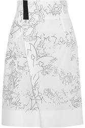 Jil Sander Printed Cotton Midi Skirt