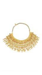 Aurelie Bidermann Heart Beaded Bib Necklace Gold