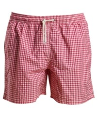 Barbour Men's Tailored Fit Gingham Swim Trunks Med Pink