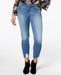 American Rag Juniors' Ripped High Rise Skinny Jeans Created For Macy's Cristobal