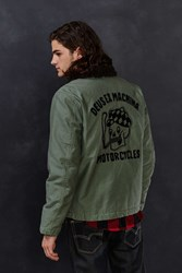 Deus Ex Machina Embroidered Deck Jacket Olive