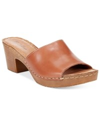 White Mountain Morsel Block Heel Platform Sandals Women's Shoes Brown